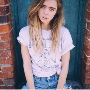 New brandy Melville distressed Led Zeppelin tee